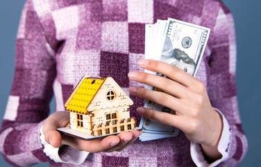 businesswoman house money
