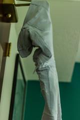 Pants hang drying