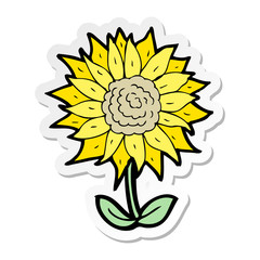 sticker of a cartoon flower