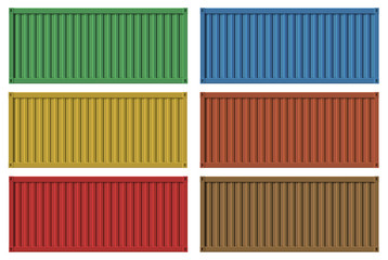 Vector of shipping container