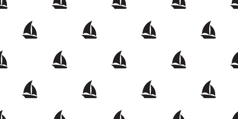 boat seamless pattern vector yacht sailboat anchor helm maritime Nautical tropical scarf isolated tile background repeat wallpaper