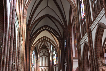 Beautiful interior of the Cathedral of St. Michael the Archangel and St. Florian the Martyr. Location: Praga district of Warsaw city, Poland.