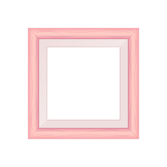 framework pink pastel wooden blank for picture, image of square frames pink soft color square isolated on white background, blank vintage frame image cute, empty frames picture chic luxury on white
