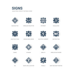 simple set of icons such as map and map pointer, panels, maps and location, no, wireless network, area 51, khanda, ceres, instruction, electric current. related signs icons collection. editable