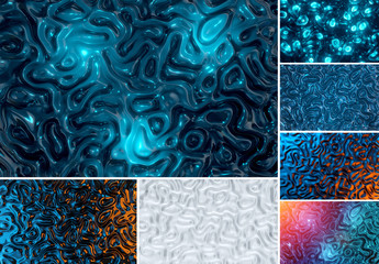 6 Abstract Gel Textures