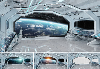 Window in Spaceship Mockup