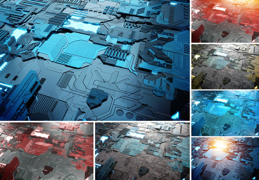 3 Circuit Board Backgrounds