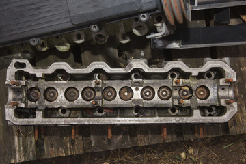 old engine cylinder head