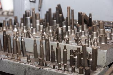 Lot of screwdriver heads