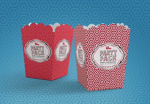 Scalloped Food Container Mockup
