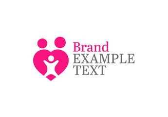 Abstract Family Heart Logo Layout