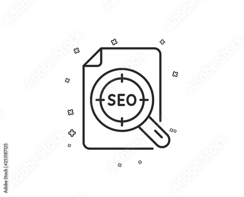 Seo target line icon  Search engine optimization sign  File