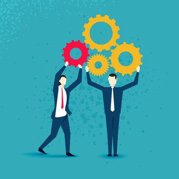 Business people teamwork vector illustration - Business teamwork.
