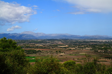 Aerial view of fields, Mallorca