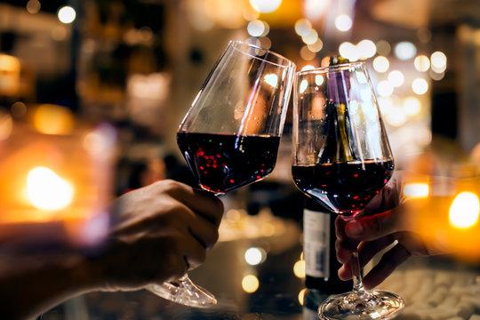 wine on wood bar