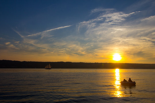 Sunset on Seneca Lake, New York