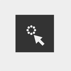 loading vector icon with arrow pointer