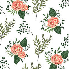 Wall Mural - Floral spring background
