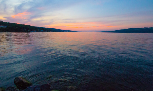 Sunset at Seneca Lake, New York