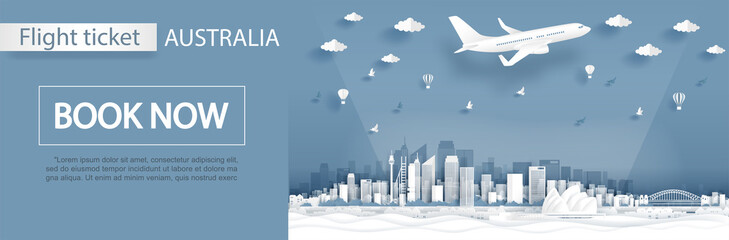 Fototapete - 1. AUSTRALIA FLIGHT