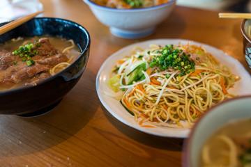 Okinawa cuisine in the restaurant