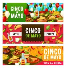 Cinco de Mayo fiesta tacos, tequila and sombrero