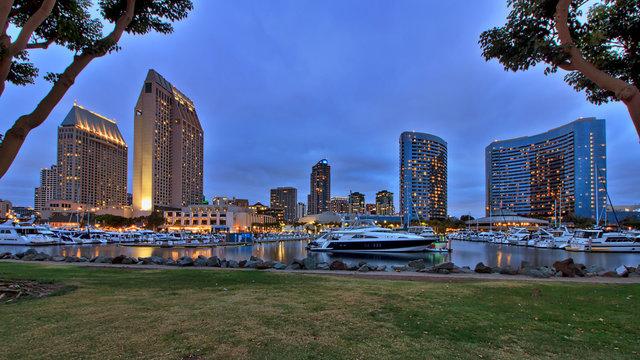 Embarcadero Marina Park North San Diego Skyline