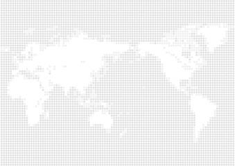 色の背景と白い丸いドット世界地図