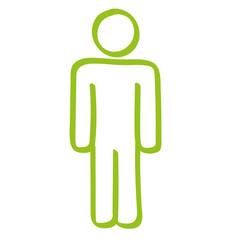 Handgezeichneter Mann in hellgrün