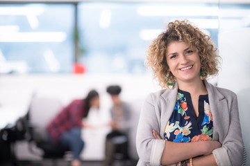 Portrait of successful female software developer