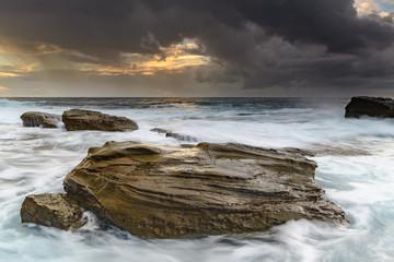 Rocky Morning Seascape