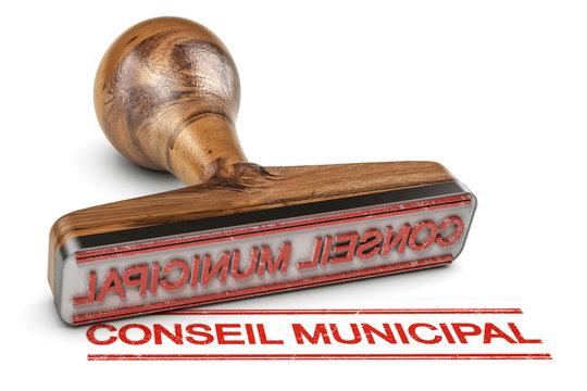 Titre pour une annonce, un compte rendu ou un ordre du jour du Conseil Municipal sur fond blanc