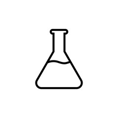 Chemical line icon,  laboratory glass sign, , logo isolated on white background