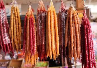 traditional vegetable fruit market.artvin turkey