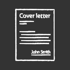 Cover letter chalk icon