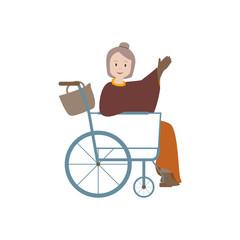 Oma im Rollstuhl