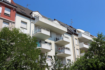 nice apartment buildings with balconies