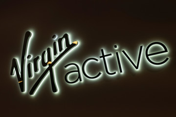 The Virgin Active logo is seen at their fitness club in central Singapore