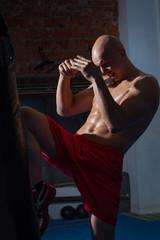 training kickboxer