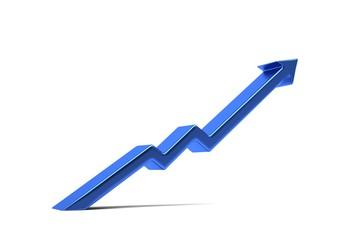 Arrow of success in business. 3D Render Illustration