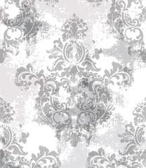Baroque texture pattern Vector. Floral ornament decoration. Victorian engraved retro design. Vintage fabric decors. Luxury fabrics
