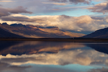 Iceland. Beautiful summer landscapes with a view of the nature of the island