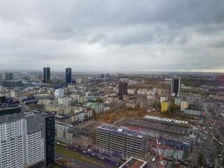 Panorama Warszawy z okien jednego z warszawskich biurowców