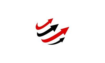 Earth arrow logo