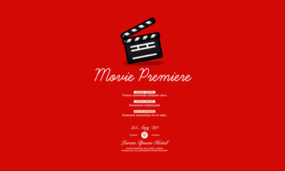Movie Premiere Ticket Invitation Design with Where and When Details