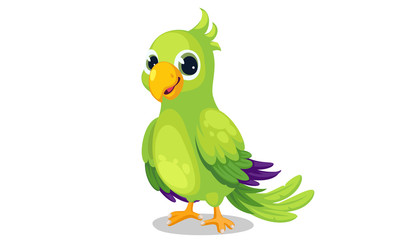 Parrot cartoon vector illustration 1