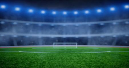 soccer stadium with illumination