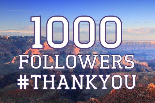 1000 followers sign