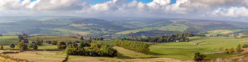 Large panorama of Yorkshire countryside in Spring Fototapete