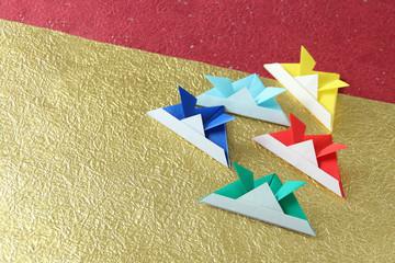 端午の節句 兜の折り紙